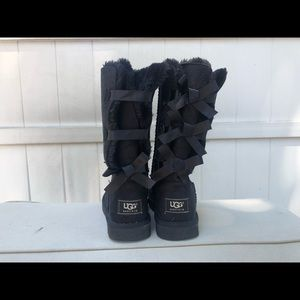 Black bailey bow women's ugg boots